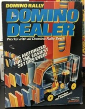 Domino Rally Motorized Domino Dealer 1992 Complete Pressman Toy 100 Domi... - $5.84