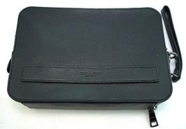 NWT Coach Mens Pouchette Clutch Wallet Crossgrain Leather Wrist Strap F9... - $168.29