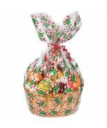 Basket Bag Cello Candy Cane 24 x 29 inches - $3.65