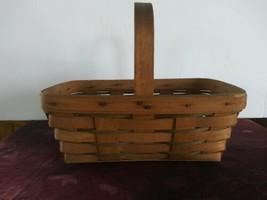 Longaberger Stationary Basket Small Gathering Basket 1990 - $23.36