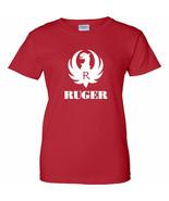 Ruger White Logo Womens T Shirt Ladies 2nd Amendment Pro Gun Rifle Pisto... - $13.49+