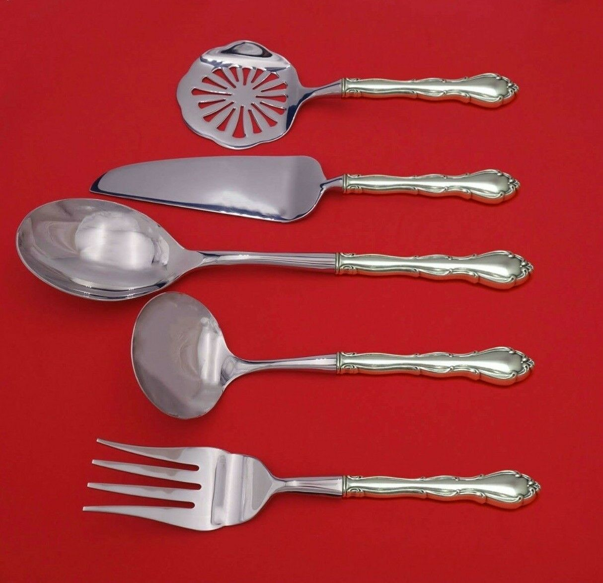 Primary image for Fontana by Towle Sterling Silver Thanksgiving Serving Set 5-Piece Custom Made