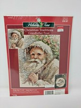 New Unopened Cross Stitch Kit Leisure Arts Grandfather Frost Traditional Xmas - $32.26