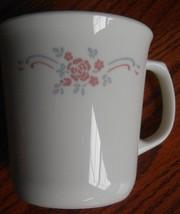 4 Corelle English Breakfast Coffee Tea Mug Cup Pink Roses Blue Ribbon 9 ... - $14.80