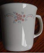 4 Corelle English Breakfast Coffee Tea Mug Cup Pink Roses Blue Ribbon 9 ... - $14.80