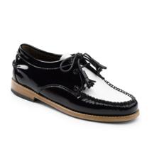 G.H. Bass Womens Winnie Tie Loafer White Size 8 #NLDV7-M489 - $99.99