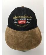 Levi Strauss American Legend Hat Black Denim Suede Bill Levi's Strapback... - $22.23
