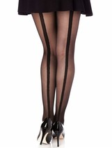 Berkshire Trend Luxe Backseam Control Top Pantyhose Tights Black Size 1-... - $7.83