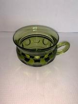 Vintage Green Indiana King's Crown Thumbprint Glass Cup/Mug - $5.00