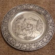 Wilton Pewter 1978 Christmas Plate. - $11.98