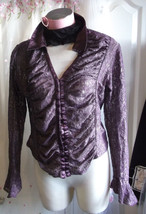 Gothic Wiccan/pagan/hippie Purple RomanticLACY  Corset Top Size 14 16,GOTH SLEEV - $38.14