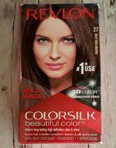 Revlon ~ ColorSilk ~ Beautiful Color ~ 27 Deep Rich Brown ~ Hair Dye ~ C... - $11.88
