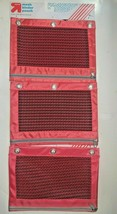 Lot of (3) Pink Mesh Binder Pouches