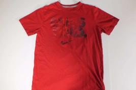 Nike T Shirt Sz Large L Red Dues Paid Men Standard Fit  C32 - $11.92