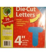 """4"""" Die Cut Letters Teaching Tree Blue Red 70 characters upper number pun... - $2.39"""