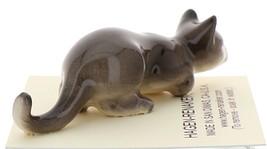 Hagen-Renaker Miniature Ceramic Cat Figurine Gray Cat Stalking image 4