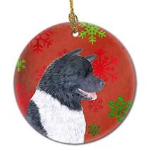 Caroline's Treasures SS4728-CO1 Akita Red Snowflakes Holiday Christmas C... - $22.94