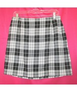 1990s vintage black plaid mini skirt size large - $49.99