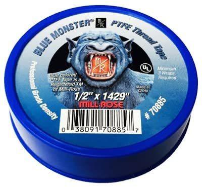 Blue Monster 1/2 Inch X 1429 Inch Blue Teflon Tape (3 Pack) Milrose - Basic