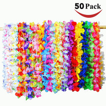 50x Tropical Hawaiian Luau Flower Leis Party Favors Tropical Events Supp... - £20.93 GBP