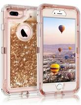 iPhone 6 7 8 Case Liquid Glitter Gold Color fit Otterbox clip - $7.91
