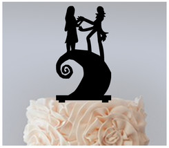 Birthday Cake topper,Cupcake topper,silhouette nightmare before christmas 11 pcs - $20.00
