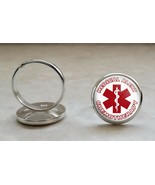 Chemotherapy Medical Alert 925 Sterling Silver Adjustable Ring - $39.00
