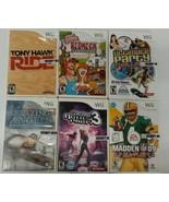 Lot Of 6 Nintendo Wii Games Blazing Angels MADDEN HAWK RIDE REDNECK PART... - $27.66