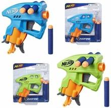 Nerf N-Strike NanoFire Includes Blaster & 3 Darts Compact Size Blue Or Green - $5.59