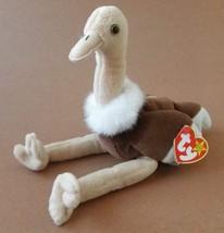 TY Beanie Babies Stretch the Ostrich Plush Toy Stuffed Animal by G19018234 - $11.22