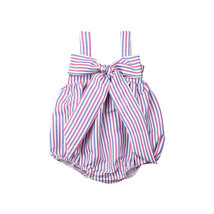 Newborn Baby Girls Fashion Striped Sleeveless Jumpsuit Romper Clothes  R... - $8.69