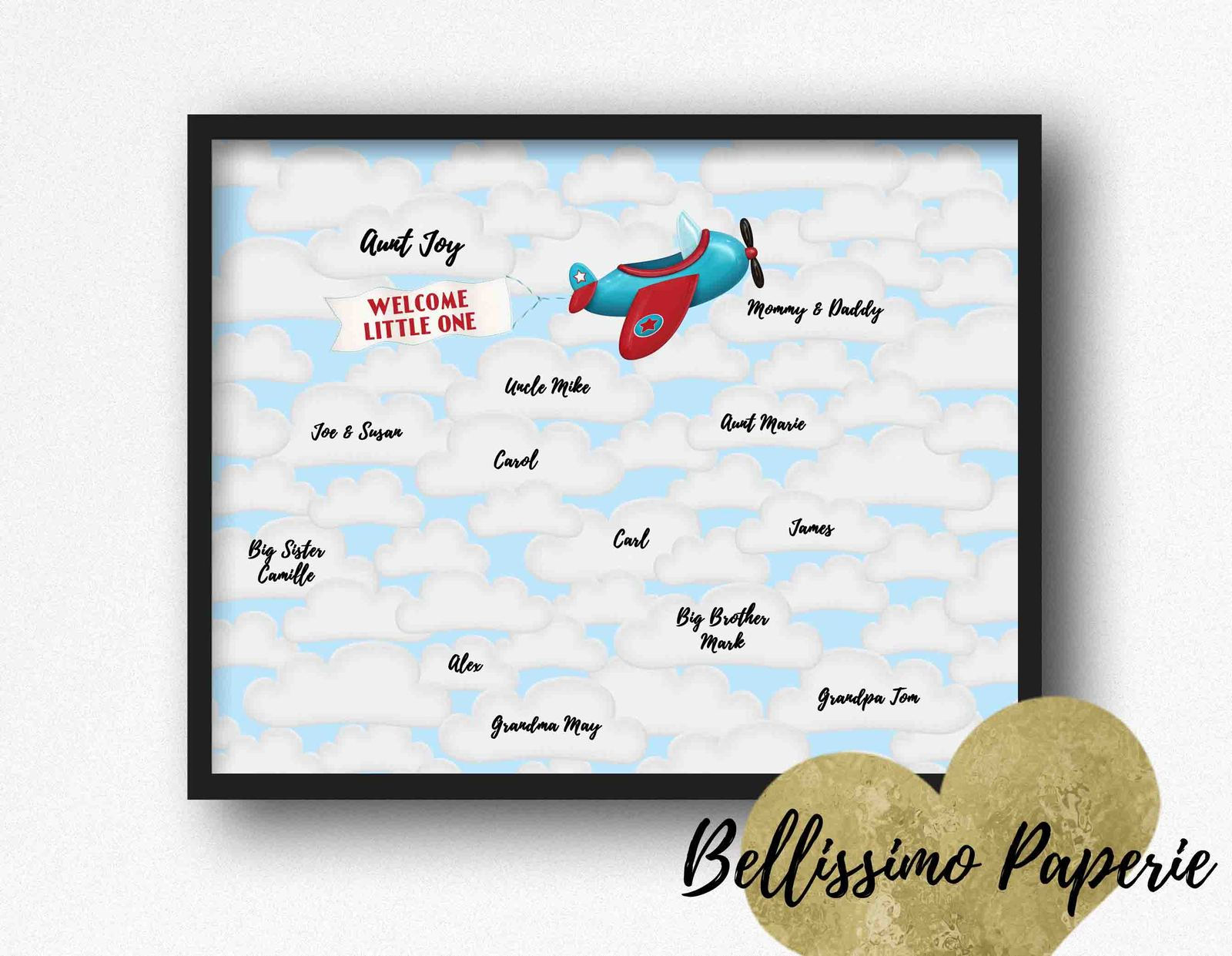 photograph regarding Baby Shower Guest Book Printable identify Aircraft \