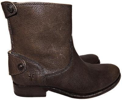 667304f3ef4 Frye Melissa Melissa Button Back Zip Short Boot Ankle Bootie Riding Shoe 8.5