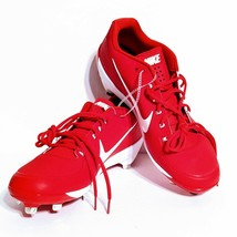 Nike Air Clipper Red Metal Baseball Cleats New (US Size 14) 880261-616 - $21.28