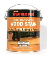 Okon Weather Pro 128 Oz Semi Transparent Natural Wood Stain For Deck Spa... - $25.99
