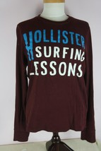 Hollister Youth S Long Sleeve Burgundy Shirt - $8.36
