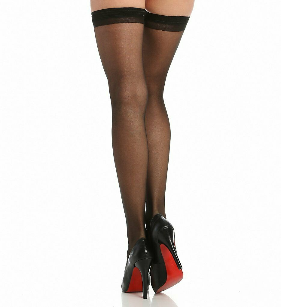 Berkshire FANTASY BLACK Sheer Invisible Toe Thigh Highs, 2-Pack, Size A-B image 3