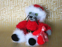 Handmade Christmas Decoration - Santa Claus  Cat Doll - Christmas gift -... - $50.21 CAD