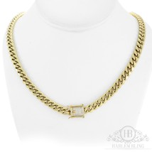 """Men's Cuban Miami Link Chain Stainless 14k Gold Plated 30"""" 10mm *Diamond... - $38.60"""