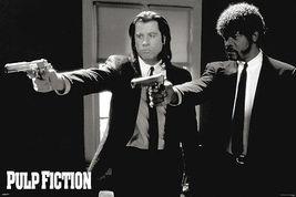 "Pulp Fiction movie poster 24 x 36"" Pointing Guns - John Travolta - $14.50"