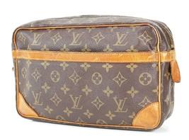 Authentic LOUIS VUITTON Compiegne 28 GM Monogram Pochette Clutch Bag #34288 - $209.00