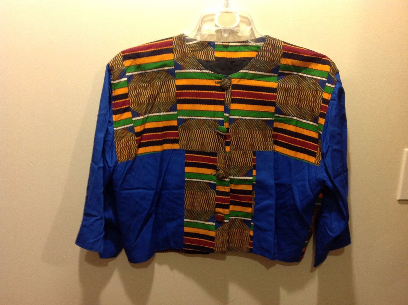 Cute Colorful Short Jacket w Large Buttons