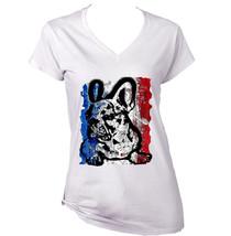 French Bulldog French Flag 5 - Cotton TSHIRT- S-M-L-XL-XXL - $24.80
