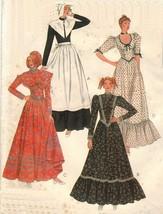 Vtg Misses Colonial Puritan Pilgrim Pioneer Halloween Costume Sew Patter... - $13.99