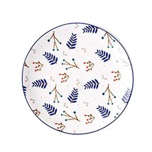 East Majik Set of 4,Cute Ceramic Plate Creative Western Dishes for Home Kitchen - $22.80