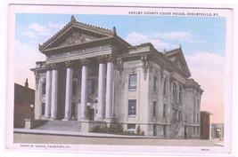 Court House Shelbyville Kentucky 1920s postcard - $6.44