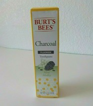 Burts Bees Charcoal Mint Medley Fluoride Toothpaste 4.7 Oz New Sealed Ex... - $12.24