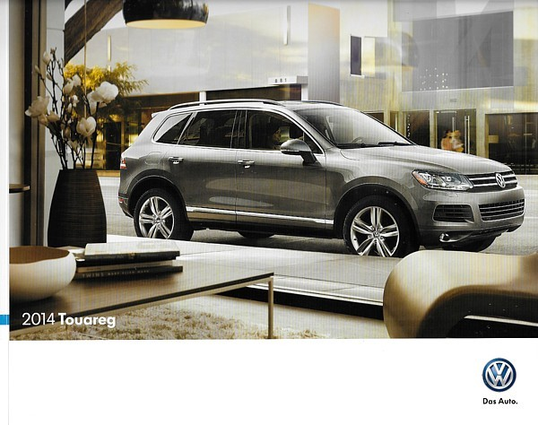 Primary image for 2014 Volkswagen TOUAREG brochure catalog US VW HYBRID TDI Lux Executive R-Line