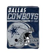 Dallas Cowboys Blanket 46x60 Raschel 40 Yard Dash Design Rolled [Free Sh... - $31.00