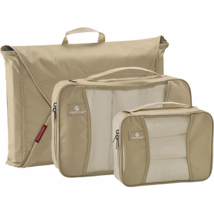 NEW EAGLE CREEK PACK-IT STARTER SET WITH GARMENT FOLDER & 2 CUBES TAN - $49.95
